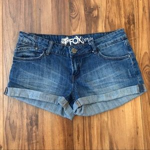 Fox Racing Cuffed denim Jean Shorts size 27
